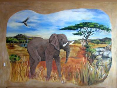 Custom mural on canvas