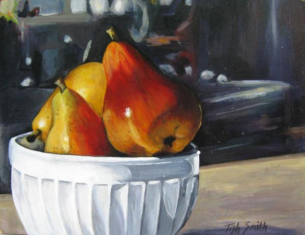 Three Pears in a bowl