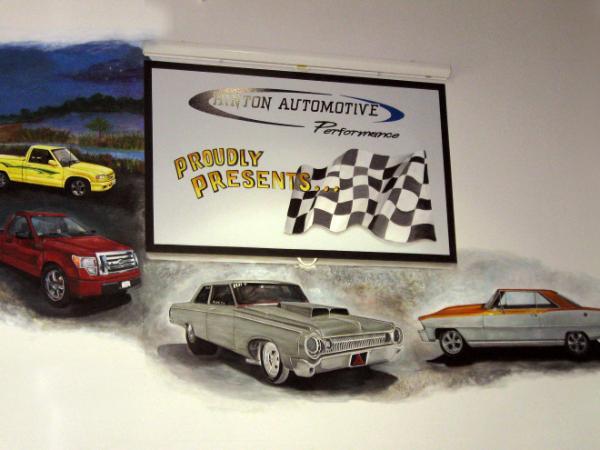 Hinton Automotive - muscle car mural