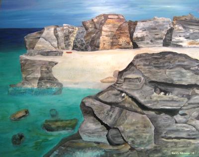 Tobemory Grotto by Terry Stevens Acrylic 48x60