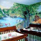 Nursery jungle scene