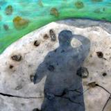 Tobemory Shadow   Terry Stevens 36x40 Acrylic  Gallery Canvas
