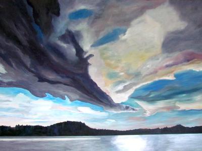 Looming over Lac La Peche