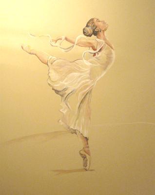 Freedom Dance (life size ballet dancer) mural