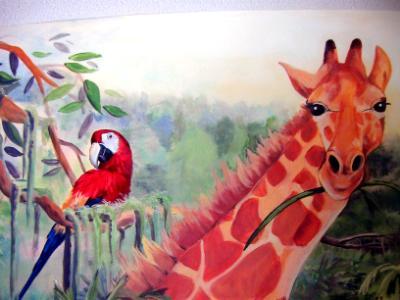 Jungle mural detail
