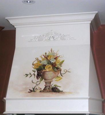 Hand painted stove hood