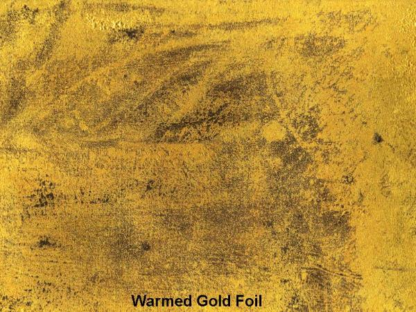 Warmed gold foil