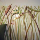 Frog on cattails