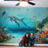 Underwater mural 8x12'
