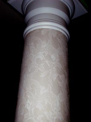 Lace pillar finish