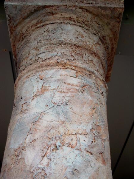 Textured Stone Pillar : Jewelstone rough textured pillar fine art murals