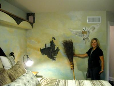 The Harry Potter boys bedroom. Mysterious and fun