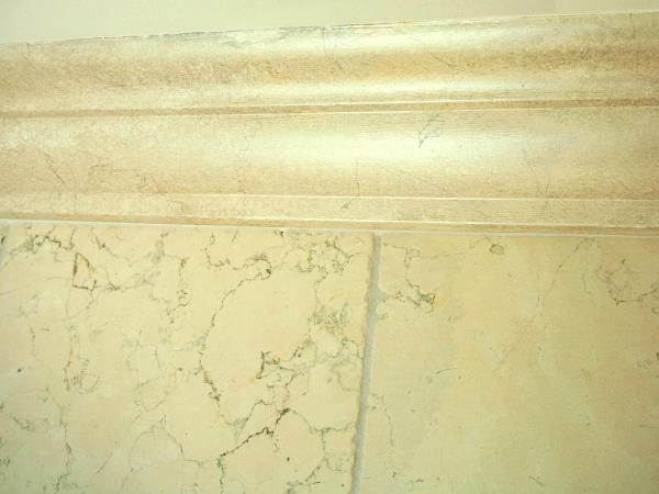 Faux Botachino marble paint finish to match walls