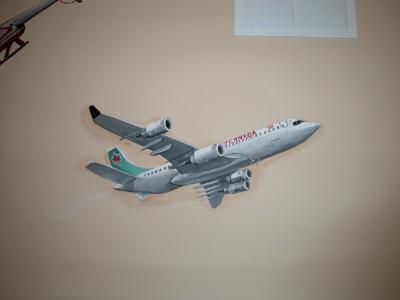Jet plane in boys room
